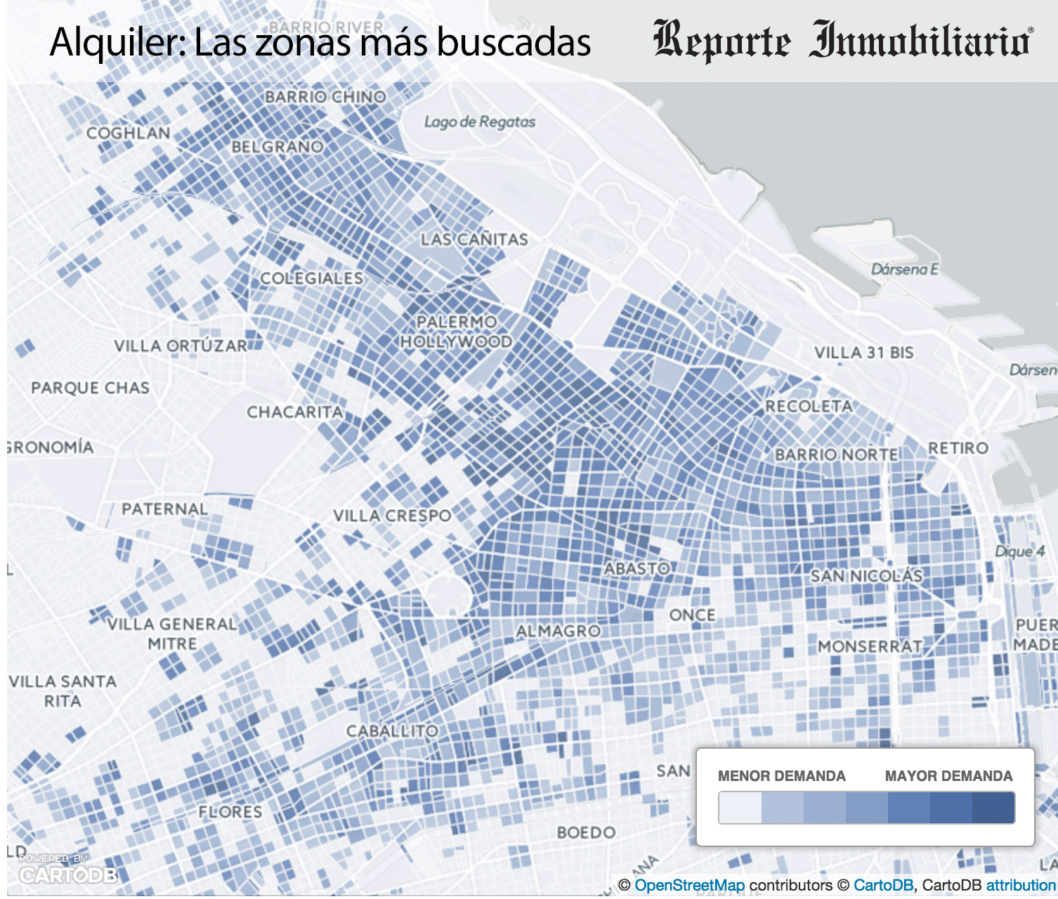 Resumen 2015 - Las zonas mas buscadas para Alquilar departamentos